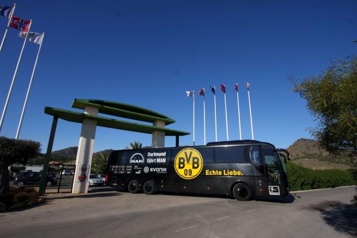 Explosion d'une bombe au niveau du bus du Borussia Dortmund