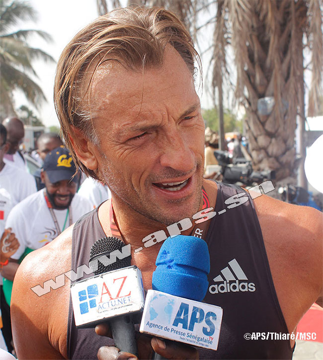 Hervé Renard, une des attractions du Marathon de Dakar