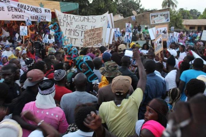 Meeting  de l'APR de Ziguinchor : Forte mobilisation de Benoît Sambou
