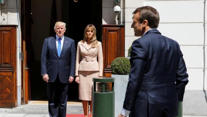 Bruxelles : premiers échanges entre Donald Trump et Emmanuel Macron