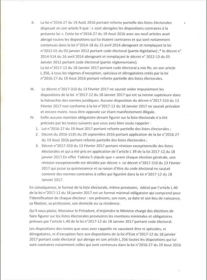 MANQUEMENTS CONSTATÉS SUR LES LISTES ÉLECTORALES PROVISOIRES : La CENA répond aux lettres du Coordonnateur Mamadou Lamine Diallo (DOCUMENTS)
