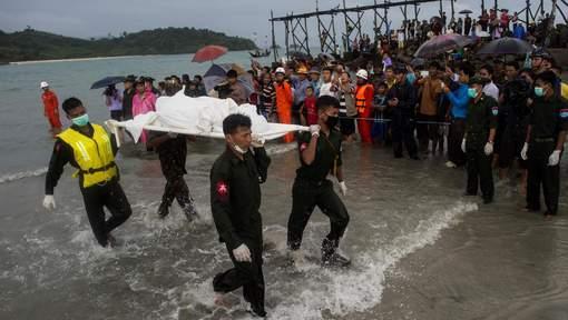 Crash en Birmanie : 29 corps repêchés sous les yeux de leurs proches