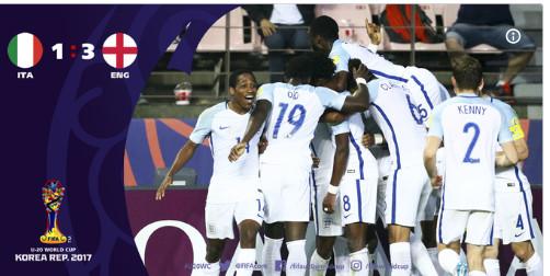 CM U20 : l'Angleterre rejoint le Venezuela en finale !