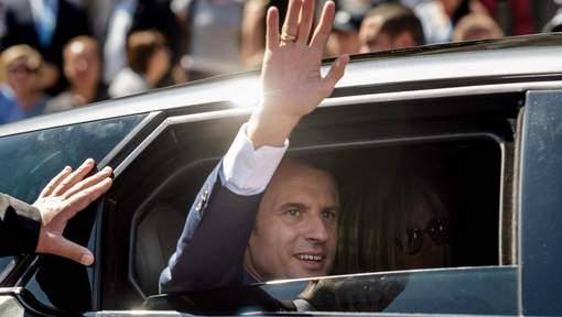 Le parti d'Emmanuel Macron en tête des premiers sondages