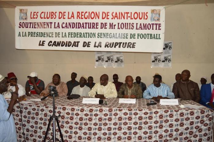 Fédération Sénégalaise de Football : Les Clubs de la région de Saint-Louis soutiennent la candidature de Lamotte
