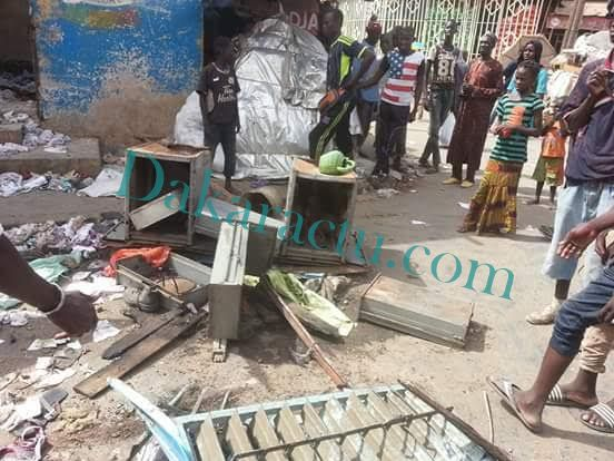 Échauffourée au marché Ocass de Touba (Images)