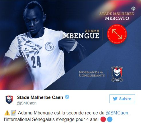 Officiel : Adama Mbengue signe à Caen