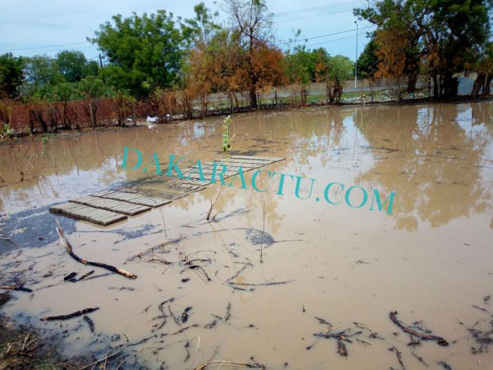 Des quartiers de Kaffrine engloutis par les pluies.