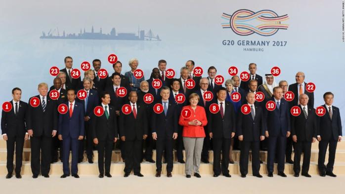 Qui est qui dans la photo de classe 2017 des dirigeants du G20