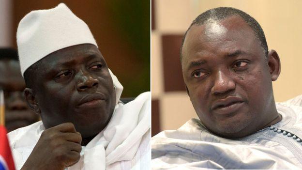 GAMBIE : Des Officiers favorables à l'ex-président Yahya Jammeh comploteraient Adama Barrow.