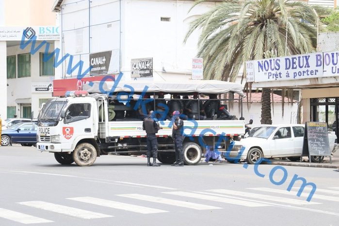 MARCHE DE WADE : Un important dispositif sécuritaire quadrille le centre-ville