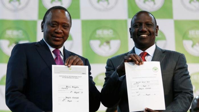 Uhuru Kenyatta réélu président du Kenya avec 54,27 % des voix