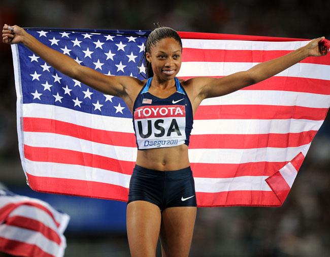 Allyson Felix devient l'athlète la plus médaillée de l'histoire des Mondiaux