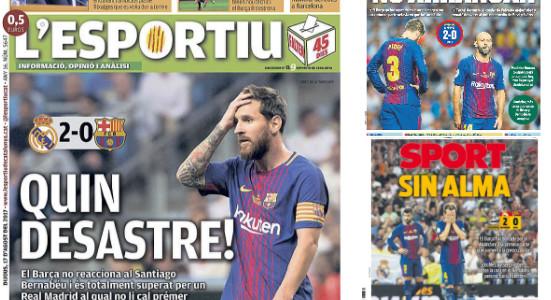 """""""Quel désastre"""", """"Sans âme"""": la presse catalane dézingue le Barça"""