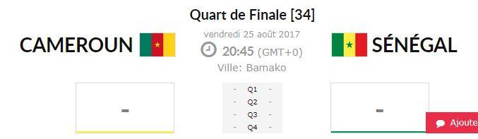 Quart de finale Afrobasket / Cameroun-Sénégal à 20h 45 : Revanche pour les « indomptables » ou consécration pour les « Lionnes » ?