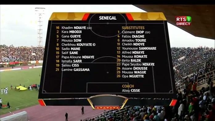 BURKINA FASO/SÉNÉGAL : La feuille de match des Lions