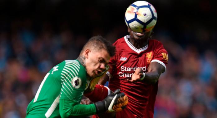 Manchester City/Liverpool : Mané voit rouge à la 37 mn après un jeu dangereux sur le gardien des citizens