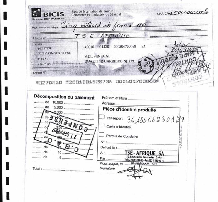 La CREI sur la piste d'une supposée rétro-commission de 12 milliards versée à Cheikh Amar (Documents)