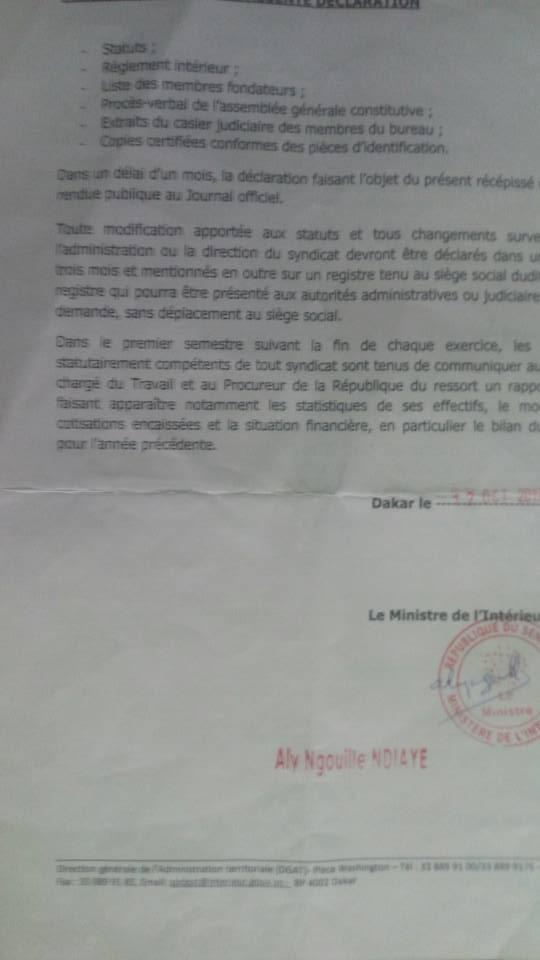 Le Syndicat SDT-3S interdit d'Ag, car accusé de fictif par l'Hôpital Général Grand-Yoff : le gros mensonge de la Direction générale (Documents)