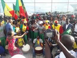 Aéroport  Léopold Sédar Senghor : La communauté gambienne à l'accueil des Lions
