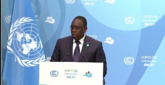 COP 23 : Macky Sall vend la politique de mix énergétique du Sénégal