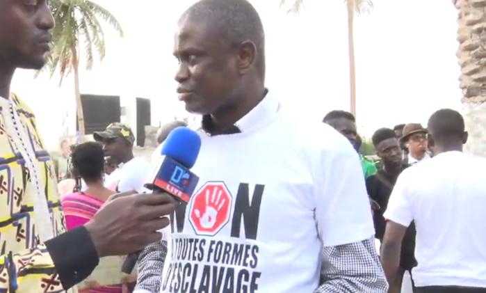 Seydi Gassama à la manifestation « Non à toutes formes d'esclavage »