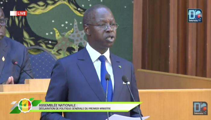 Séance plénière consacrée à la Déclaration de Politique générale : Discours du Premier Ministre Mahammed Boun Abdallah Dionne