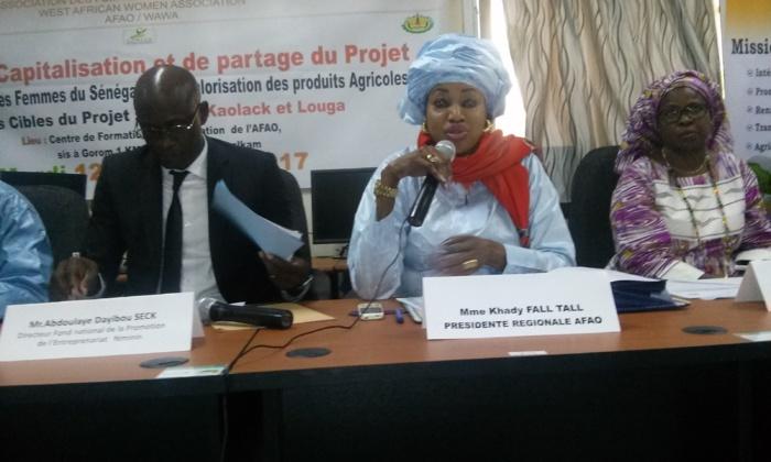 « Il y a plus de déclarations pour les femmes que d'actions... Nous avons été dans l'autonomisation des femmes bien avant que l'ONU ne le proclame » (Mme Khady Fall Tall, Afao)