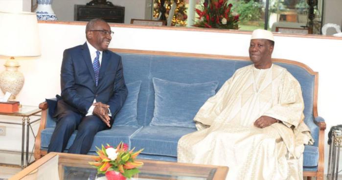 ONU / Passage de témoin entre le Sénégal et la Côte d'Ivoire : Sidiki Kaba reçu par le Président Ouattara