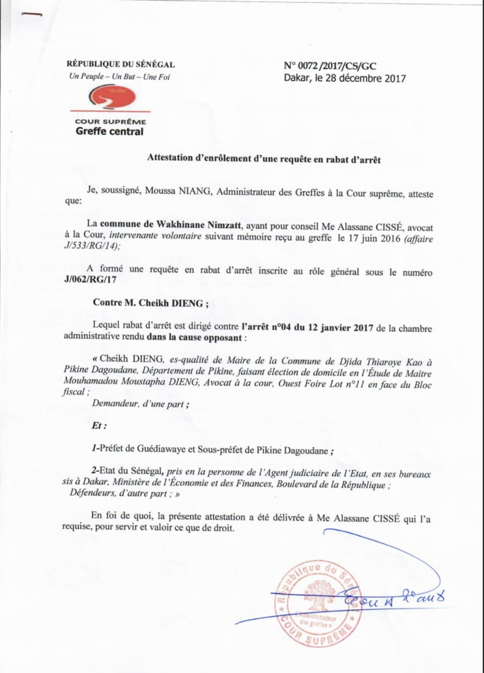 Rebondissement dans  la bataille pour le contrôle du marché Bou Bess : La commune de Wakhinane Nimzatt avait bel et bien introduit un rabat d'arrêt