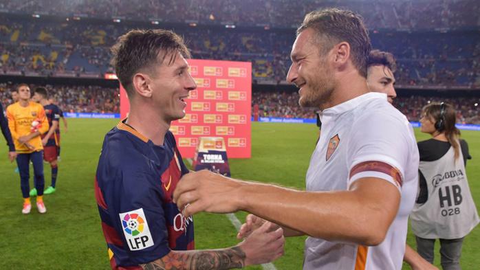 Barça : Pour Totti, Messi est le meilleur