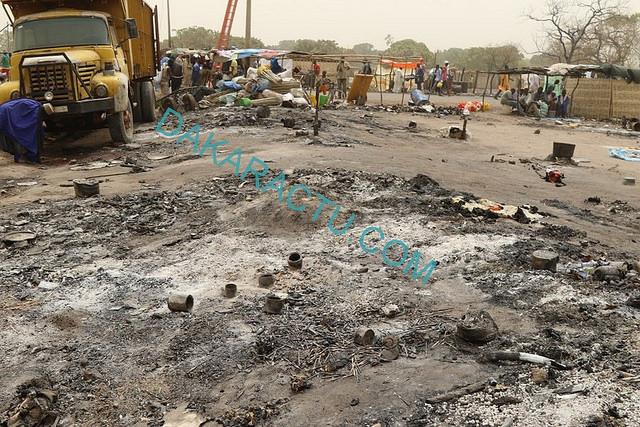 """Incendie au marché de Kaolack : """"Plusieurs dégâts matériels enregistrés... Une dizaine de moutons calcinée"""