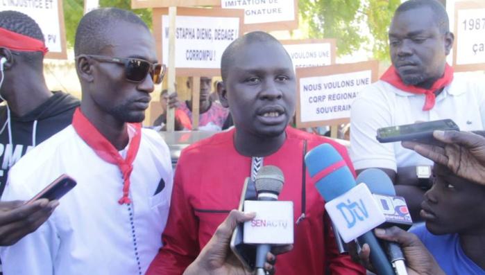 SPORTS À MBACKÉ - Marche pour le départ du Président de l'Orcav accusé de détournement et de faux et usage de faux
