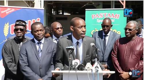 Visite du Ministre du Commerce du Sénégal, Mr Alioune Sarr à NMA PASTAMI et NMA POTOU  (Ex Moulins Sentenac)