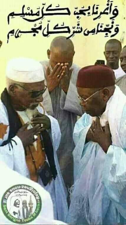 """Maodo Malick Mbaye (Dg Anamo) sur sa page Facebook : """"Serigne Sidy Moukhtar et Serigne Abdoul aziz Al Amine, deux figures emblématiques...."""""""