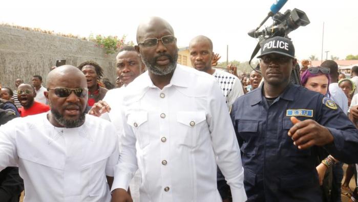 George Weah investi président du Liberia