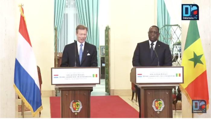 """Le grand-Duc Henri de Luxembourg :  """"Nous croyons à l'avenir du Sénégal, alors nous allons continuer d'investir dans ce pays"""""""