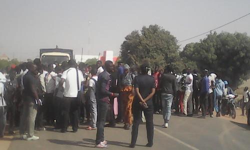 Kaolack : La marche des étudiants de l'UVS a accouché d'une souris suite aux menaces des forces de l'ordre