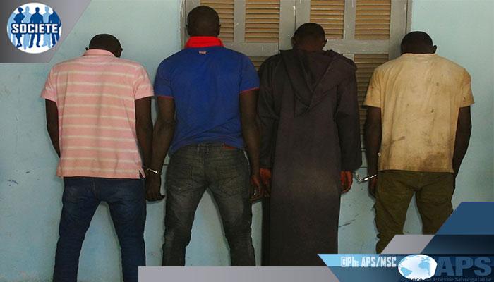 Quatre membres d'une bande de malfaiteurs arrêtés à Foundiougne (gendarmerie)