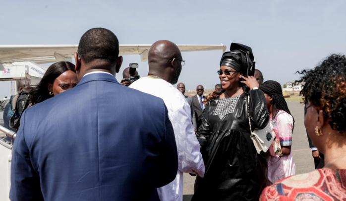 Les images de l'arrivée du Président George Weah à l'aéroport militaire Léopold Sédar Senghor