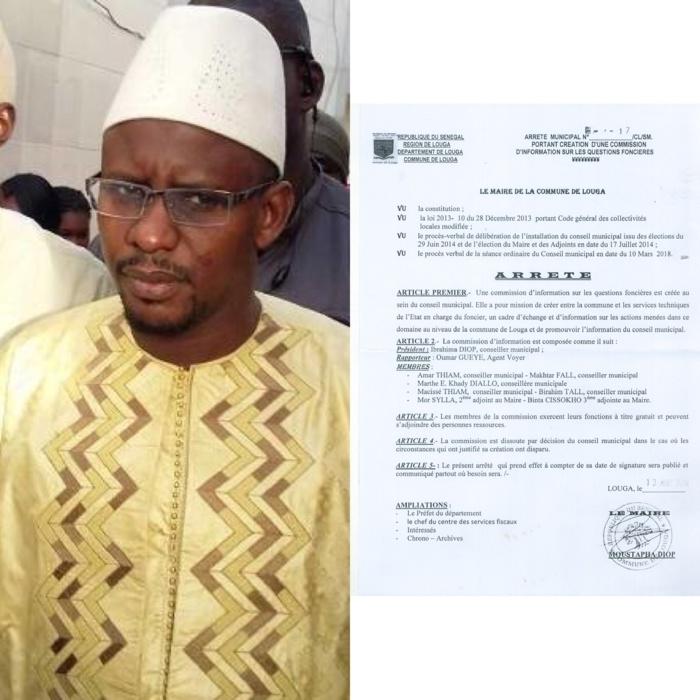 Gestion du foncier à Louga : le conseiller Omar Thiam quitte la commission créée par Moustapha Diop et enfonce ce dernier