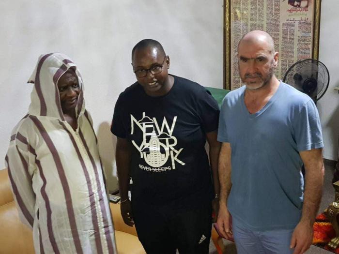 Serigne Modou Kara reçoit l'ancien international français Eric Cantona