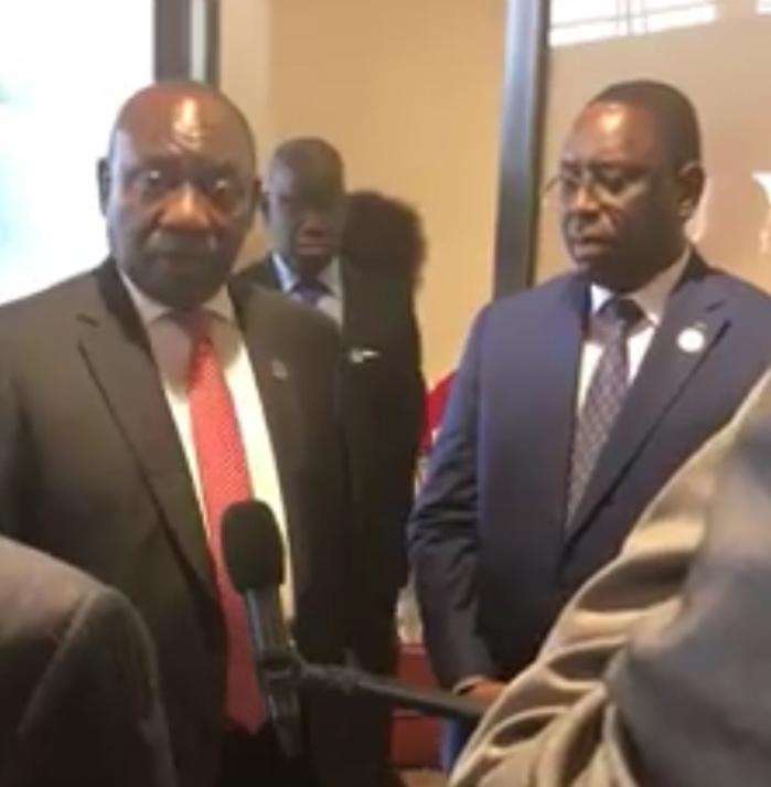 Zone de libre-échange continentale : Macky Sall signe l'accord et rencontre son homologue sud-africain