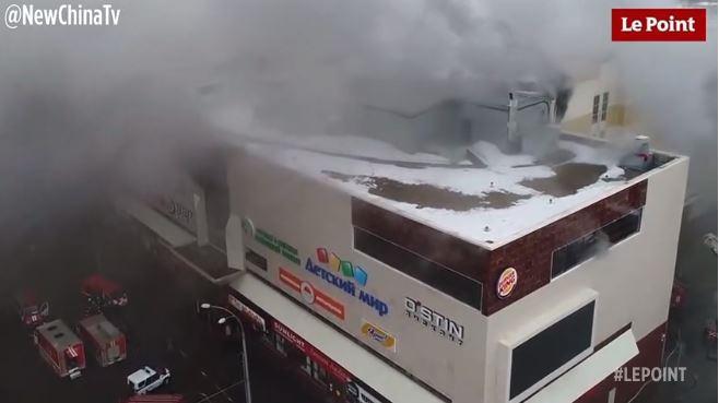 Russie : un impressionnant incendie ravage un centre commercial, 53 morts