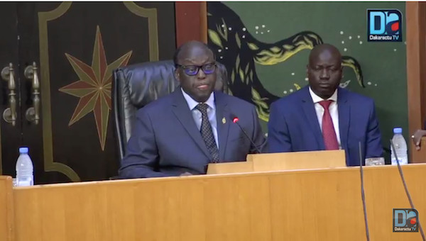 ASSEMBLÉE NATIONALE : La séance déclarée ouverte par le Président Moustapha Niasse