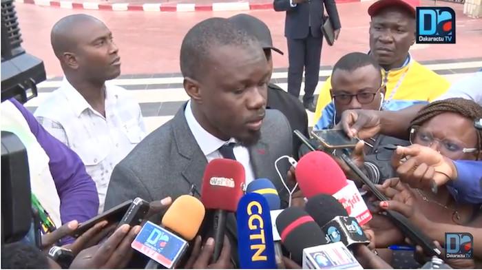 Ousmane Sonko sortant de l'hémicycle : « Les choses sont loin d'atteindre leur apogée »