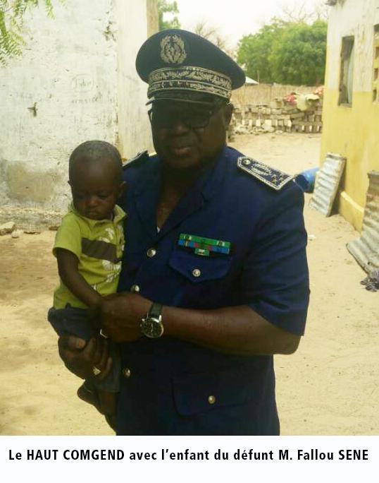 PATAR : Le Haut Commandant de la Gendarmerie a présenté ses condoléances à la famille de Fallou Sène (IMAGES)
