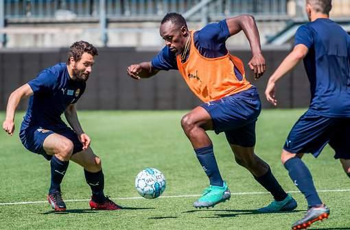 Usain Bolt continue à rêver de football... en Norvège