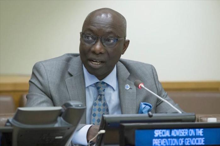 Adama Dieng, le Secrétaire général adjoint des Nations Unies écrit aux Sénégalais