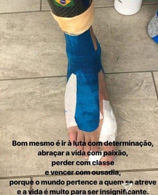 PHOTO : le pied de Neymar après son retour